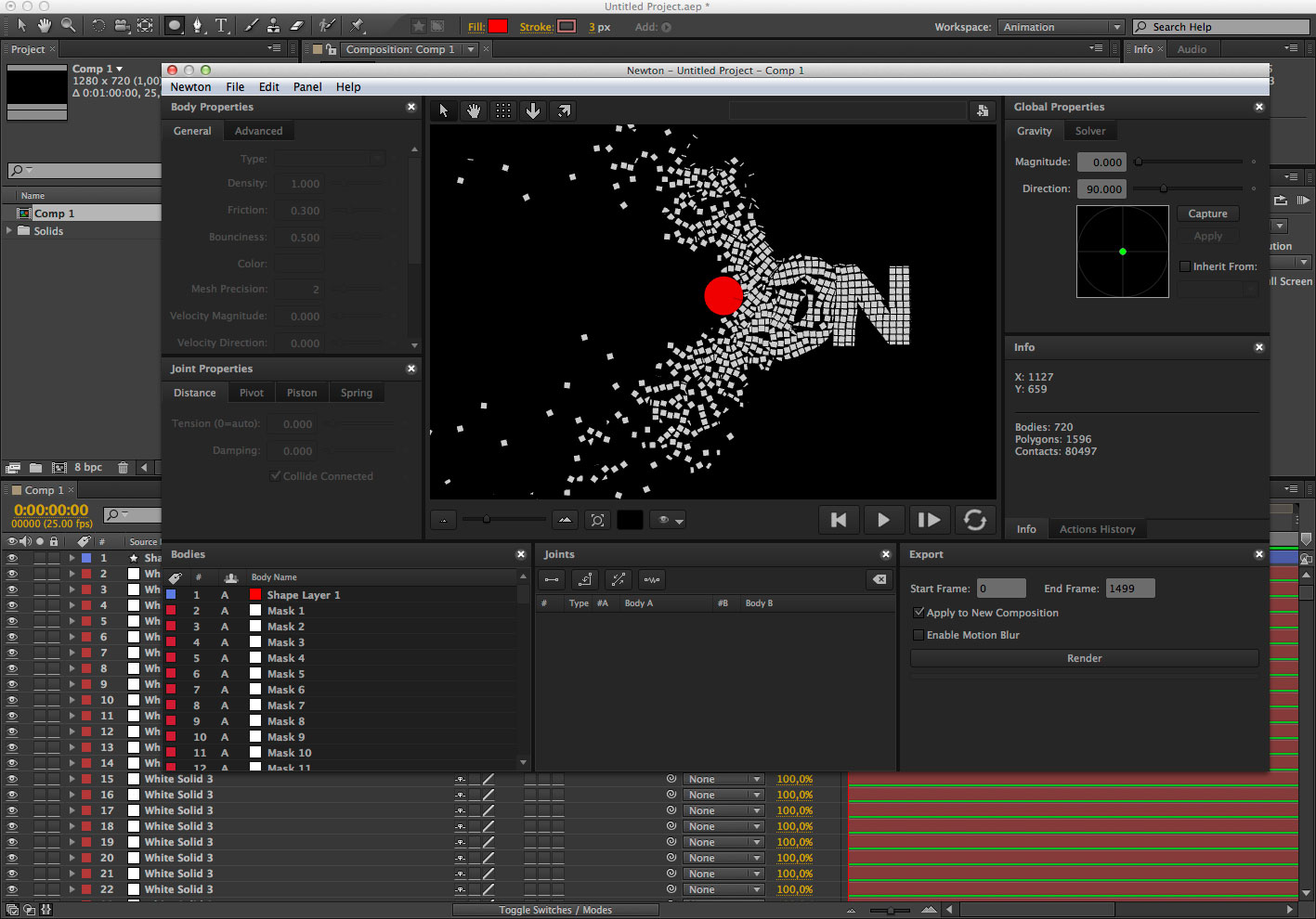 NEWTON2 | Creative tool development for After Effects
