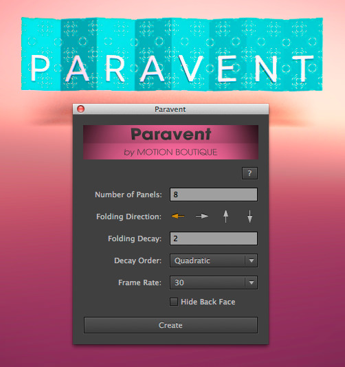 Paravent_interface
